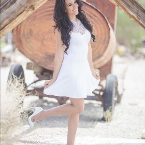 White Dress with Lace Detail